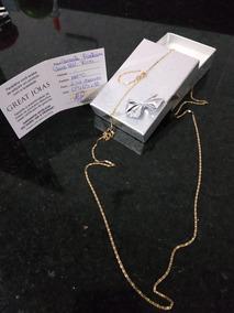 Corrente De Ouro Maciço 18k Com 70cm De Comprimento