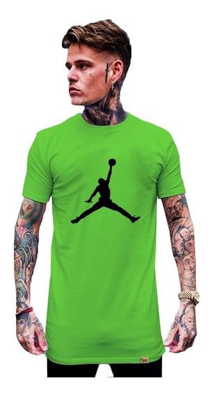 Camiseta Longline Estilo Swag Estilo Jordan Barra Reta