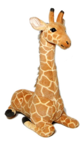 Girafa De Pelúcia Safari - 56cm Sentada
