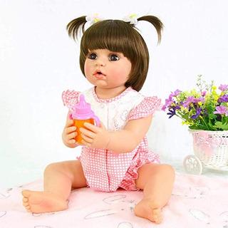Pursuebaby Muñeca Bebé Recién Nacido Lavable + Boca Abierta