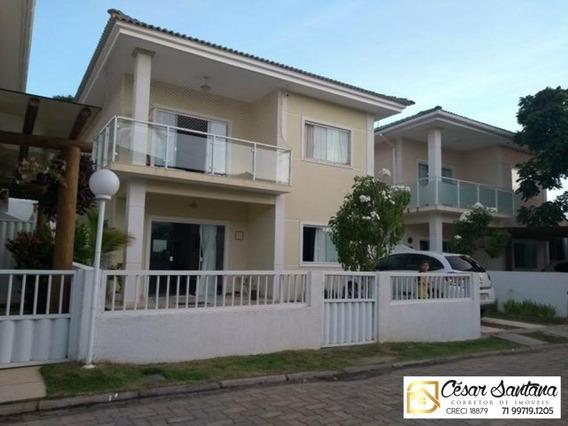 Casa 5 Suítes Em Condomínio Fechado - Buraquinho - Lauro De Freitas - Ca00464 - 33913422