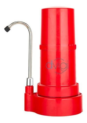 Filtro Purificador De Agua Sobre Mesada Dvigi Rojo Pcm