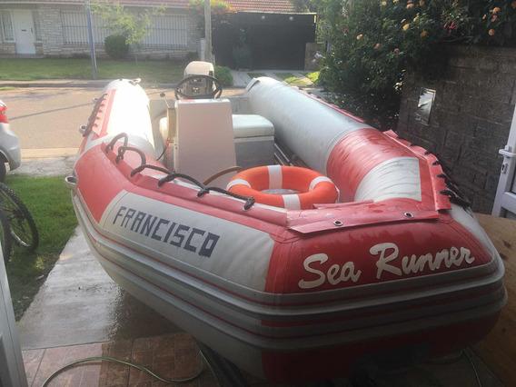 Semirrigido Sea Runner 4,60 Con Motor Tohatsu 40hp