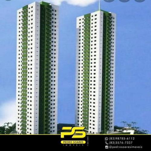 Apartamento Em Construção Com 3 Quartos À Venda, 68 M² Por R$ 240.000 - João Pessoa/pb - Ap3478