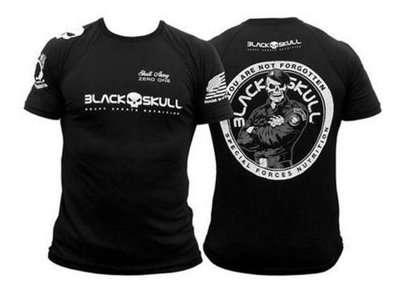 Camiseta Bope Dry Fit - Black Skull