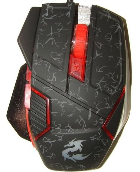 Mouse Gamer Profissional Usb Base Metálica 1600dpi 6 Botões