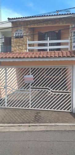 Sobrado Com 4 Dormitórios À Venda, 250 M² Por R$ 740.000 - Vila Camilópolis - Santo André/sp - So0394