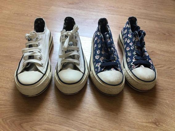 Zapatillas Estilo Converse De Niña T 33 X 2