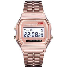 Relógio Wr De Pulso Digital Feminino Multifuncional Rosa