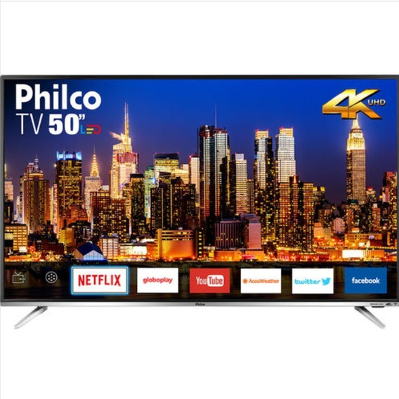 Smart Tv Led 50 Philco Ptv50g60sn Ultra Hd 4k Conversor Dig