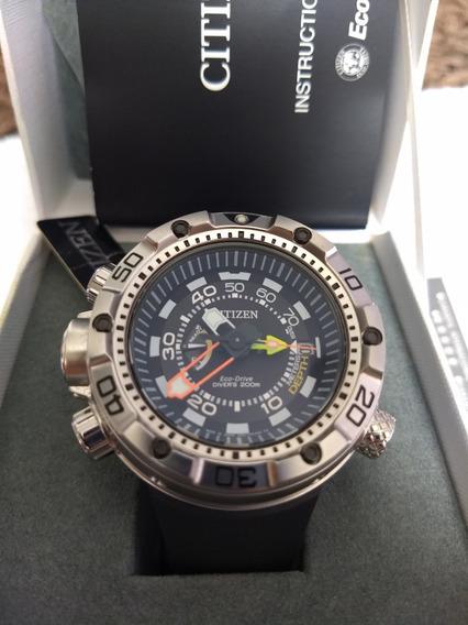 Relógio Citizen Masculino Eco-drive Bn2021-03e Diver 200m