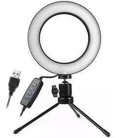 Iluminador Led Ring Light 16cm Usb Fotografia Estudio +tripe