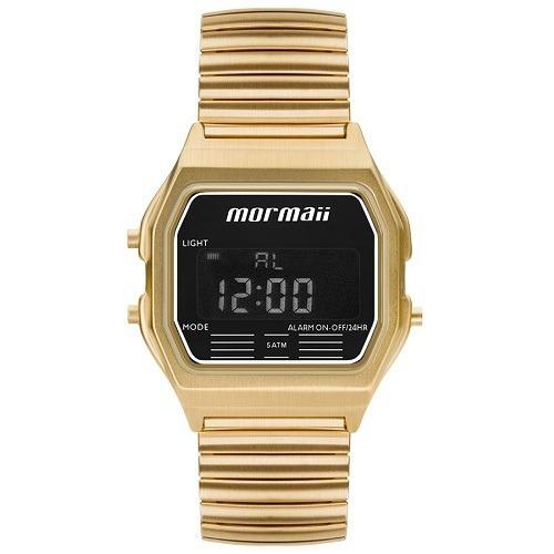 Relógio Mormaii Unissex Digital Dourado Garantia 1 Ano