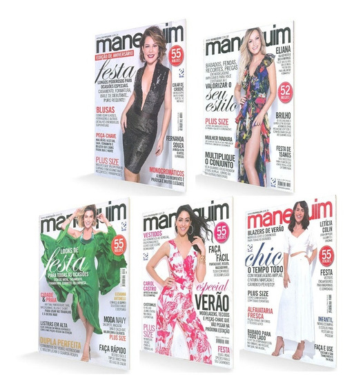 Revista Manequim 272 Moldes Looks Festa Plus Size