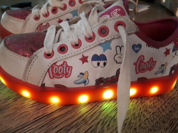Zapatillas Footy Nro 28 Con Luces Prenden Y Apagan O Fijas