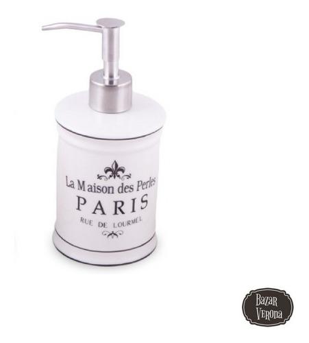 Dispenser De Jabon Liquido Porcelana Vintage Linea Paris