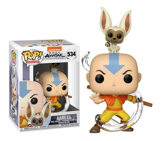 Pop Avatar Aang With Momo #534 Funko 100% Original