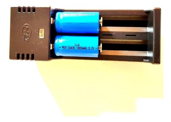 Carregador De Bateria Duplo Regulável + Bateria 16430 Mah