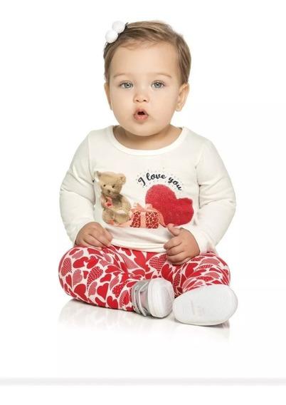 Roupa Infantil Blusinha Malha Legging Cotton Menina Elian