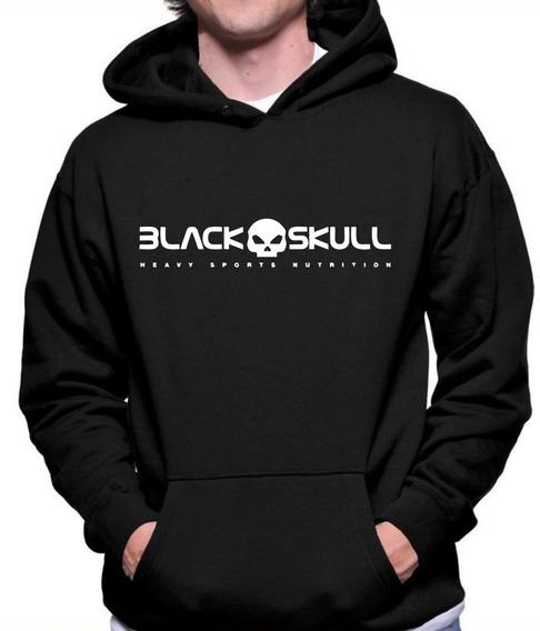 Casaco De Moletom Black Skull Musculação Blusa Promoção