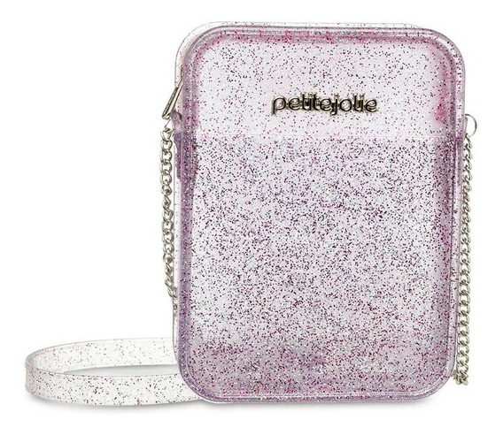 Bolsa Feminina Tiracolo Petite Jolie Tour Pj4800 Glitter