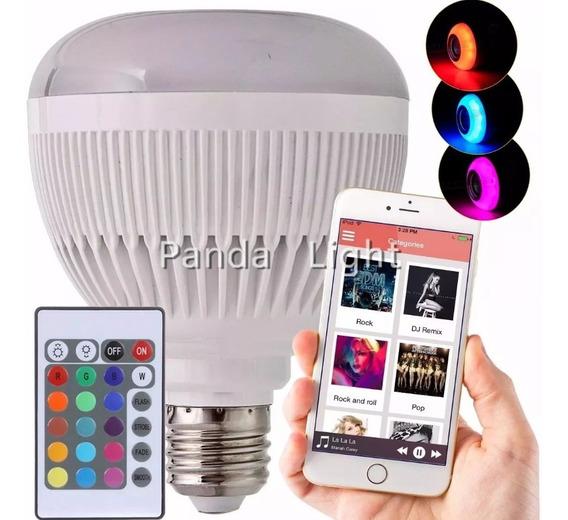Lampada Luz Led Rgb Bluetooth Caixa Som + Luva De Gato