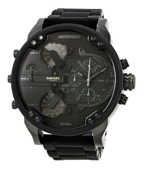 Relógio Diesel Dz7396 Mr. Daddy 2.0 Original Black Real