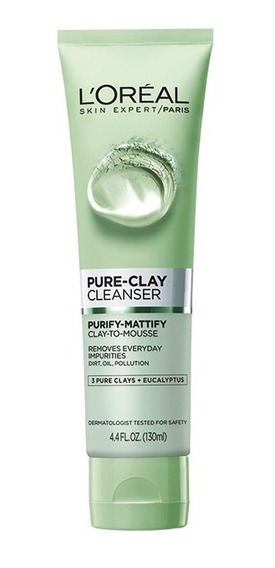 Jabón Exfoliante Purifica Y Matifica Pure Clay Loréal Paris