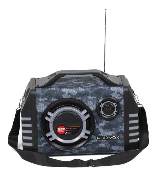 Caixa Amplificada Bluetooth Usb Xm350 Polyvox 200 Watts