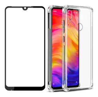 Capa Case Capinha Xiaomi Redmi 7 + Pelicula Vidro Full Cover