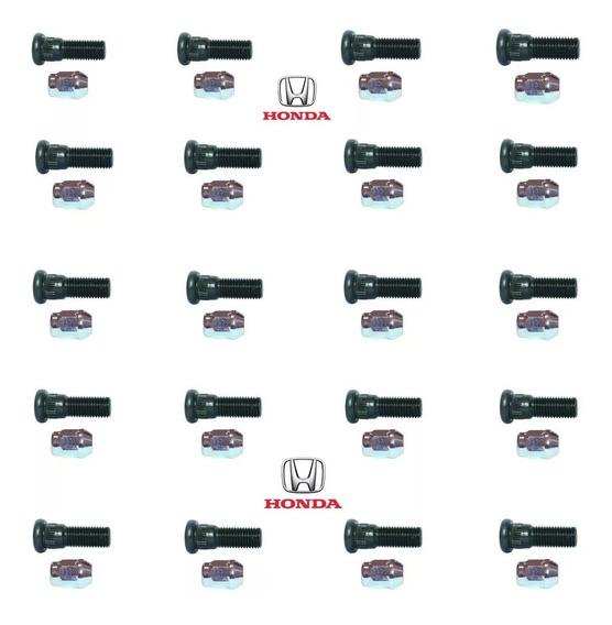 20 Parafusos E Porcas Roda Honda New Civic Fit City Accord