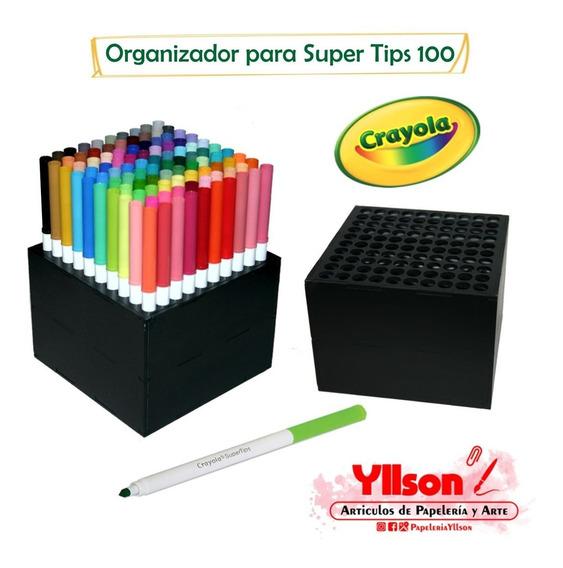Organizador Para Super Tips 100 Colores Acabado Mdf