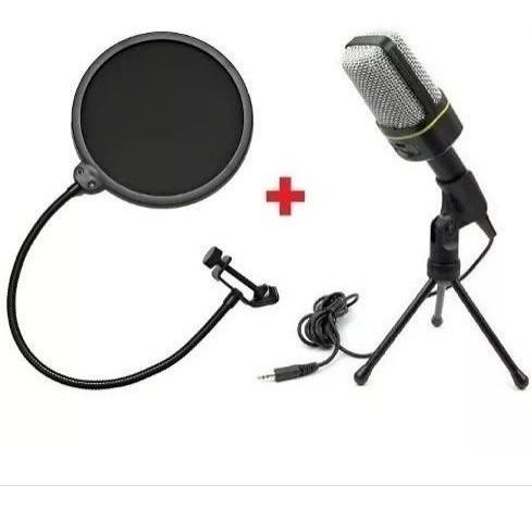 Microfone Condensador Profissional Sf-666 + Pop Filter Estud