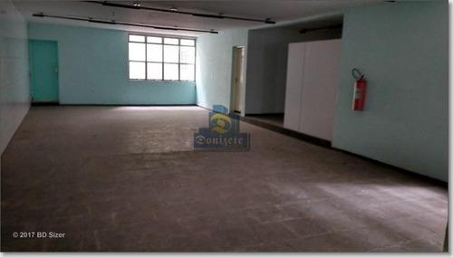 Salão Para Alugar, 258 M² Por R$ 3.000,00/mês - Parque Erasmo Assunção - Santo André/sp - Sl0045