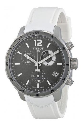 Relógio Tissot Masculino Quickster Cronógrafo Borracha Cinza
