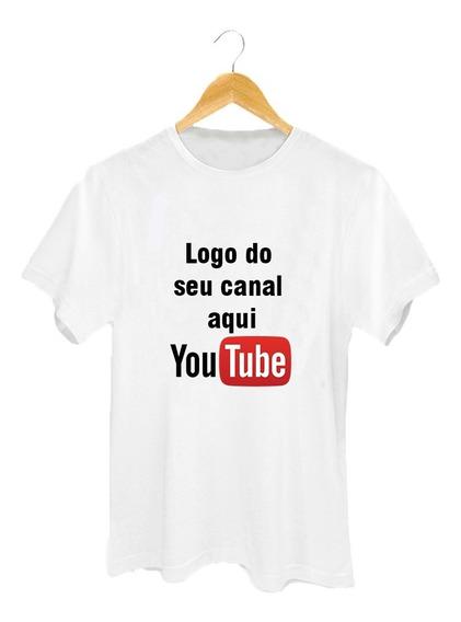 Camiseta Seu Canal Aqui - Logo Do Seu Canal - Personalizado - Estampe Seu Canal