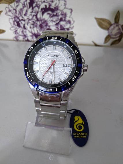 Relógio Masculino Atlantis Prata