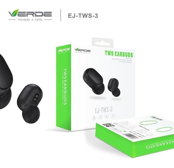 Fone De Ouvido Ej-tws-3 Earbuds Bluetooth 5.0 C/touch