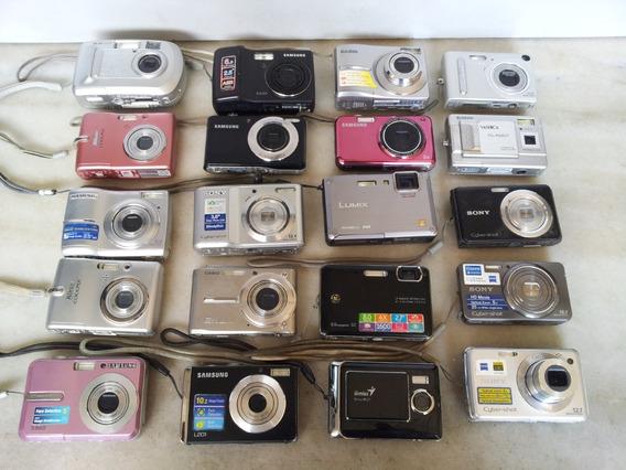 Lote Com 20 Câmeras Fotográficas Filmadoras Sem Testes