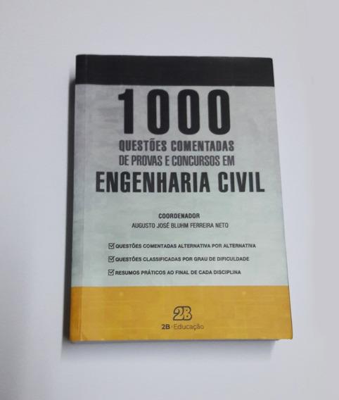 Livro 1.000 Questões Concursos Em Engenharia Civil
