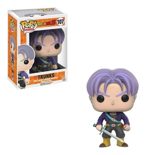Muñeco Funko Pop Dragon Ball Z Trunks 107 Original!!