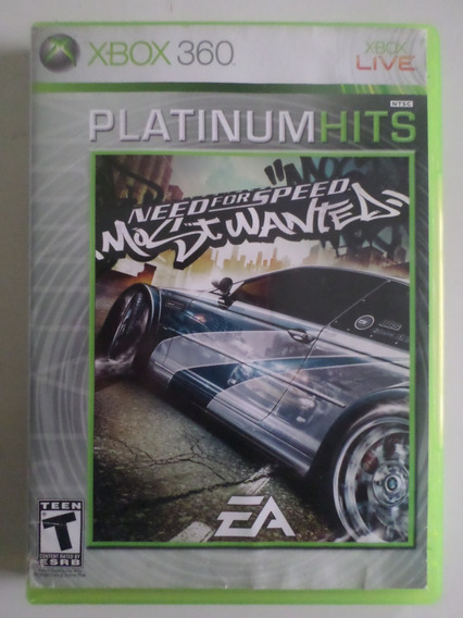 Jogo Need For Speed Most Wanted 2005 Xbox 360 Mídia Física