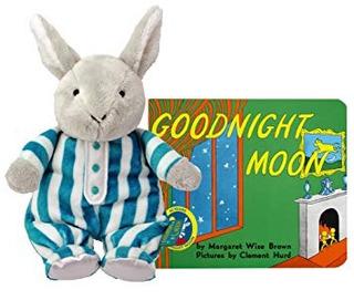 Buena Noche De La Luna Abrazo De Conejito Con Junta Libro