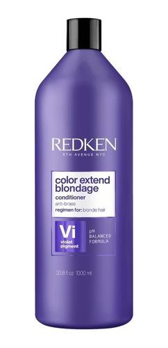 Imagem 1 de 6 de Redken Color Extend Blondage Condicionador Litro Full