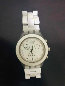 Relógio Swatch Full Blooded Branco Original Svck4045ag