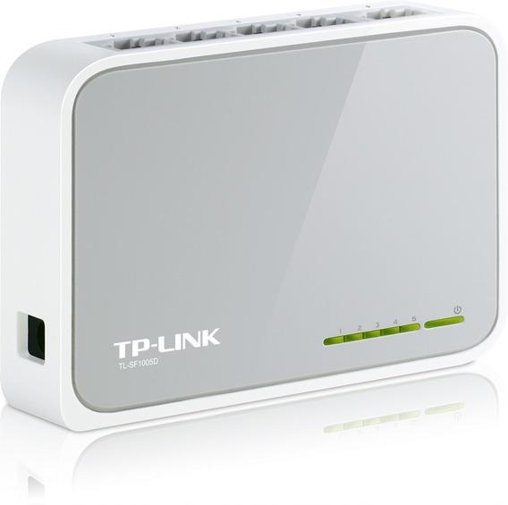Switch Tp-link 5 Puertos Tl-sf1005d 10/100 Mbps 5 Bocas
