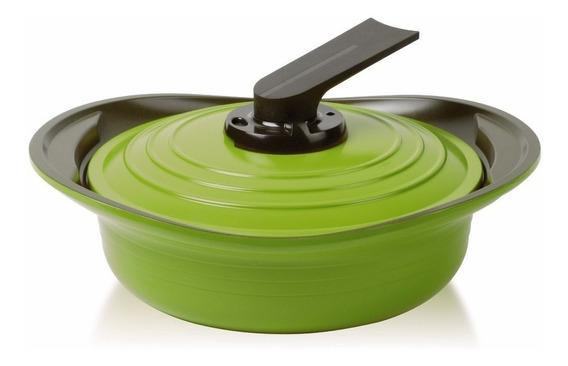 Arrocera Roichen Con Asas De Silicona 24 Cm Verde Premium