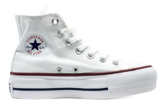 Tênis Converse All Star Hi Plataforma Branco Original