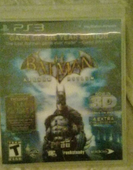 Jogo De Ps3 Batman Arkham Asylum 3 Dimensoes Com Oculos