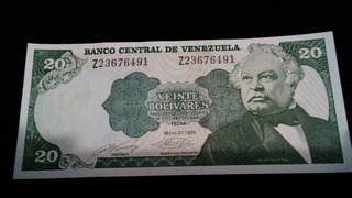 10 Billetes De 20 Bolivares 1990 Serial Z . Unc Consecutivos